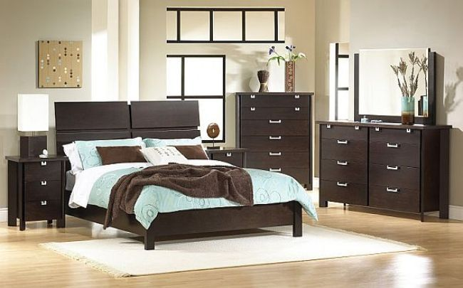 bedroom color ideas for dark furniture | design ideas 2017-2018 ...