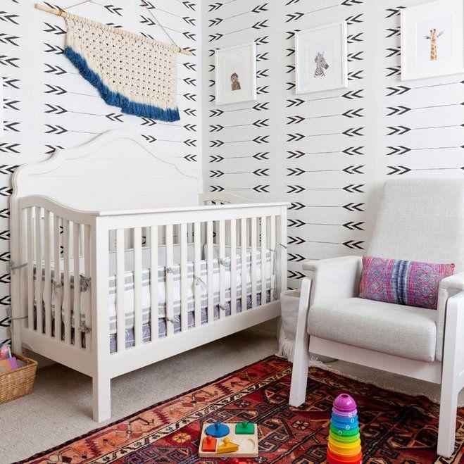 Trendy Nursery from Wayfair Bold arrowinspired wallpaper