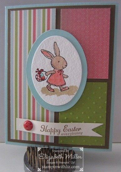 Watercolor Easter card.