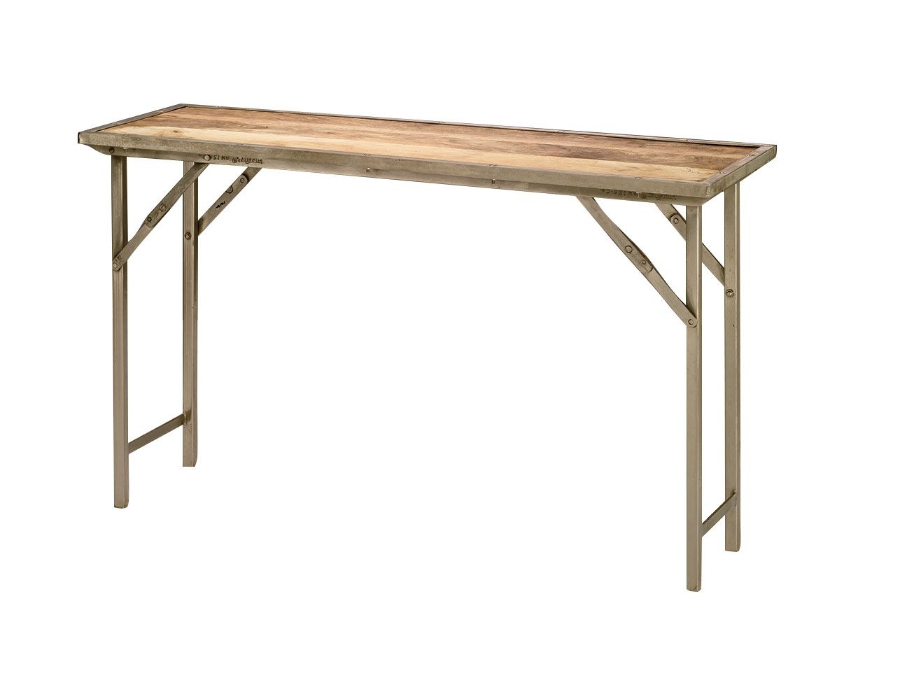 Charming Jamie Young Campaign Folding Console Table