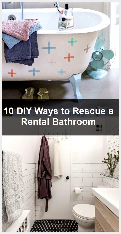 10 DIY Ways to Rescue a Rental Bathroom
