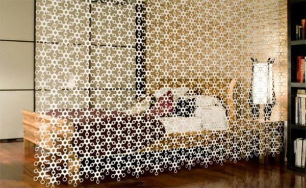 schlafzimmer-interessante-vorhänge-raumteilung- interessantes - vorhänge für schlafzimmer