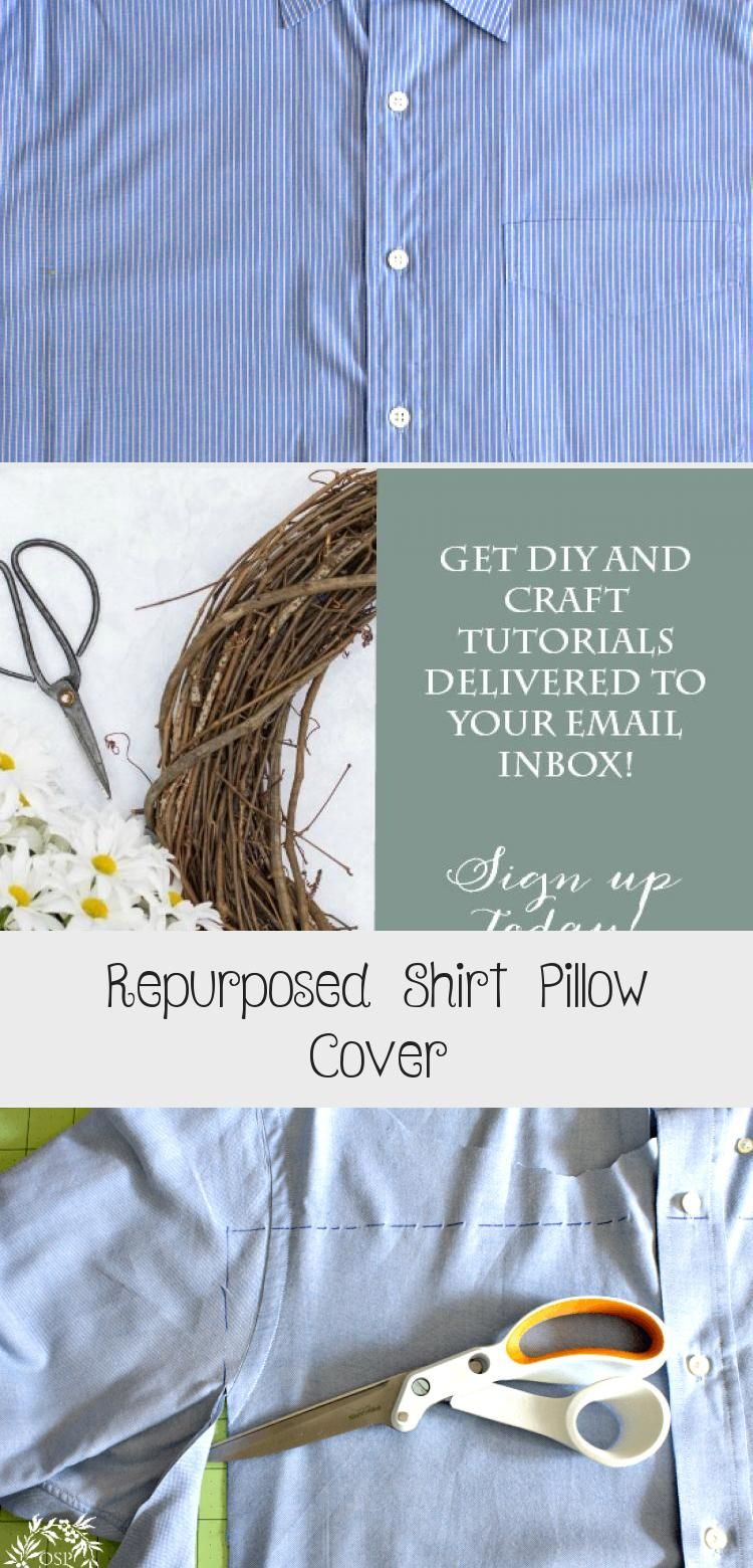 Repurposed Shirt Pillow Cover - Home Accesories