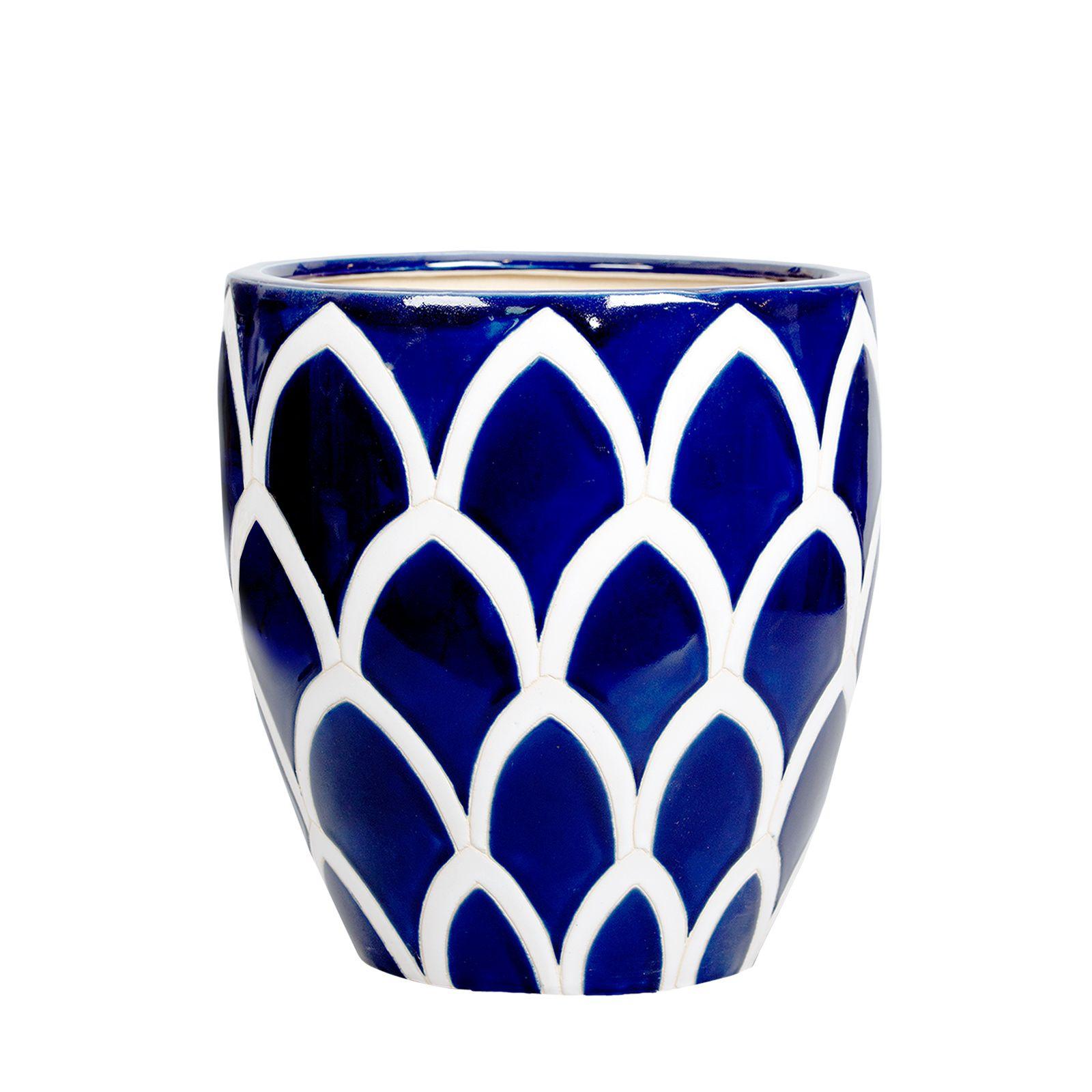 Doniczka Ceramiczna Sharc Blue In The Middle Doniczki