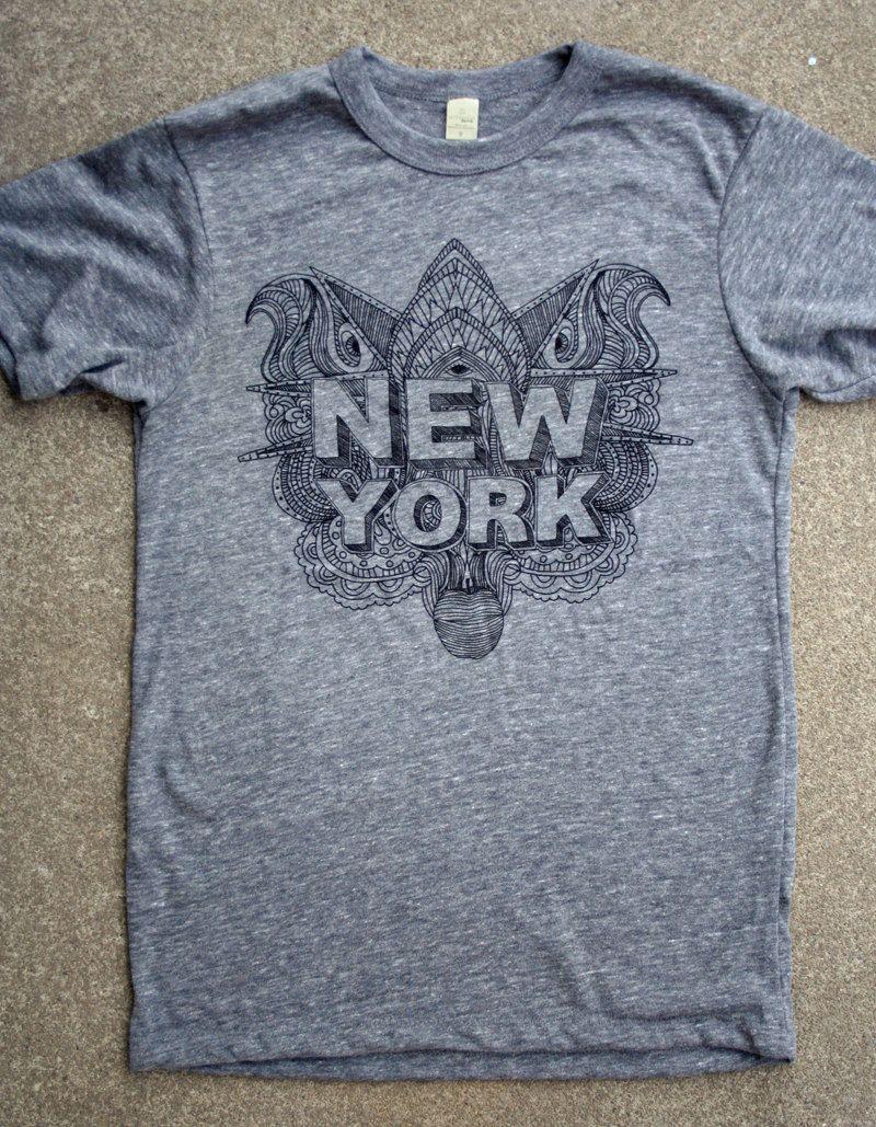 New York T Shirt - Hand Printed Silkscreen