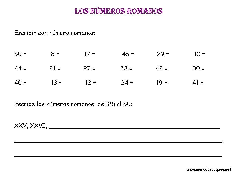 Números Romanos 03 Matemáticas Primaria Pinterest Education