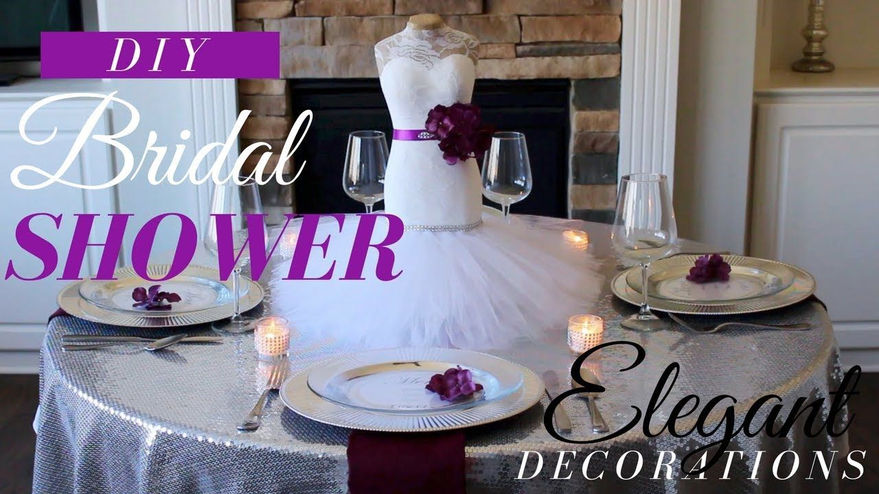 Diy elegant wedding decorations  DIY ELEGANT BRIDAL SHOWER DECORATIONS  DIY BRIDAL SHOWER