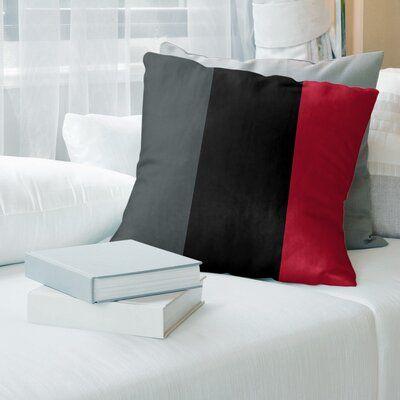 East Urban Home Las Vegas Hockey Striped Pillow Cover Wayfair In 2020 Stripe Throw Pillow Football Throw Pillow Suede Pillows