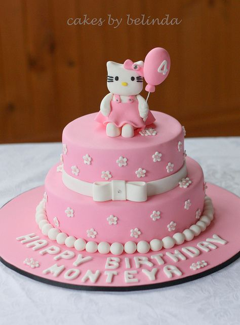hello kitty 2 tier cake Tiered cakes Hello kitty and Kitty