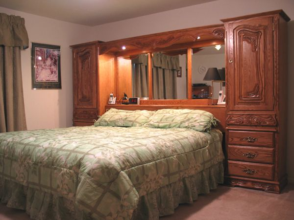 california king pier wall unit bed with storage - Pier Wall Bedroom Furniture
