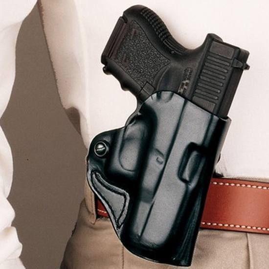 OWB Thumb Break Leather Belt Holster Fits Glock 26//27//33 Right Hand