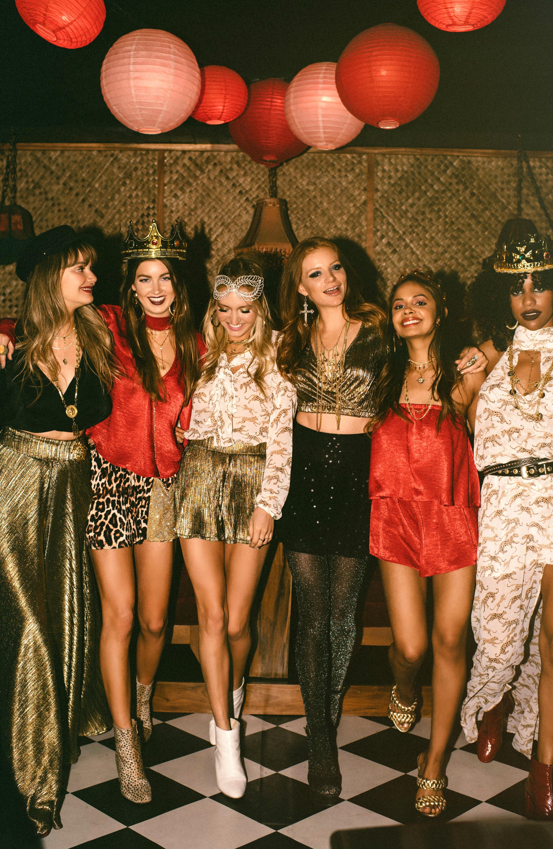 Christmas Queens 2020 Show 70s disco party outfit #70s Mumu Karaoke Queens Show Me Your Mumu