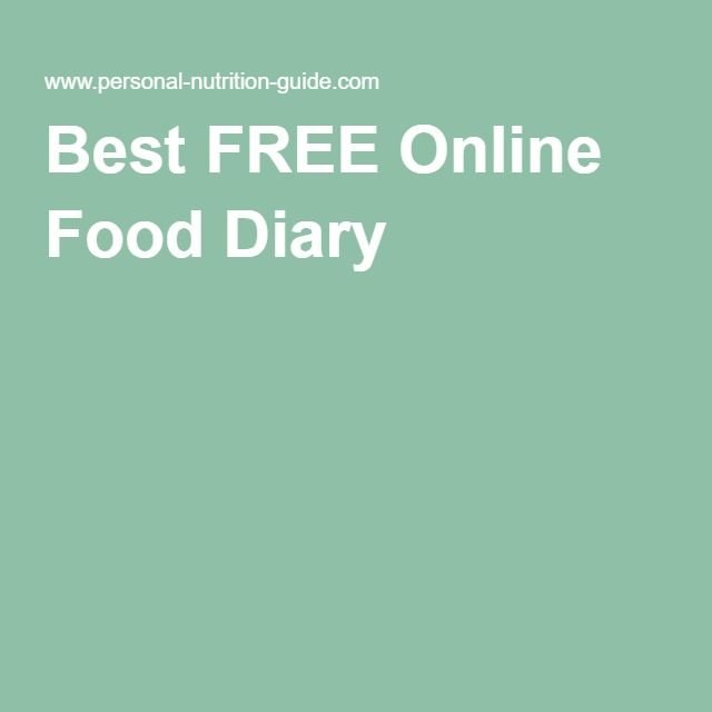 best free online food diary s w basics pinterest food diary