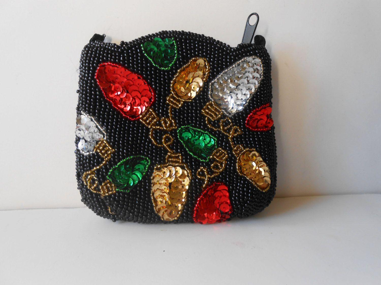 Beaded Bag Vintage Change Purse Glam by LittleBitsofGlamour