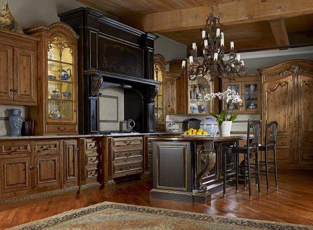 Seven On Sunday Enchanted Blog Tuscan Kitchen Rustic Kitchen Cabinets Alder Kitchen