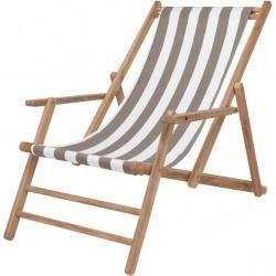 Jan Kurtz Maxx Deckchair Deck Chair Cover Polyacrylic Listado Taupe Jan Kurtzjan Kurtz Jan Kurt In 2020 Outdoor Wood Furniture Diy Furniture Restoration Deck Chairs