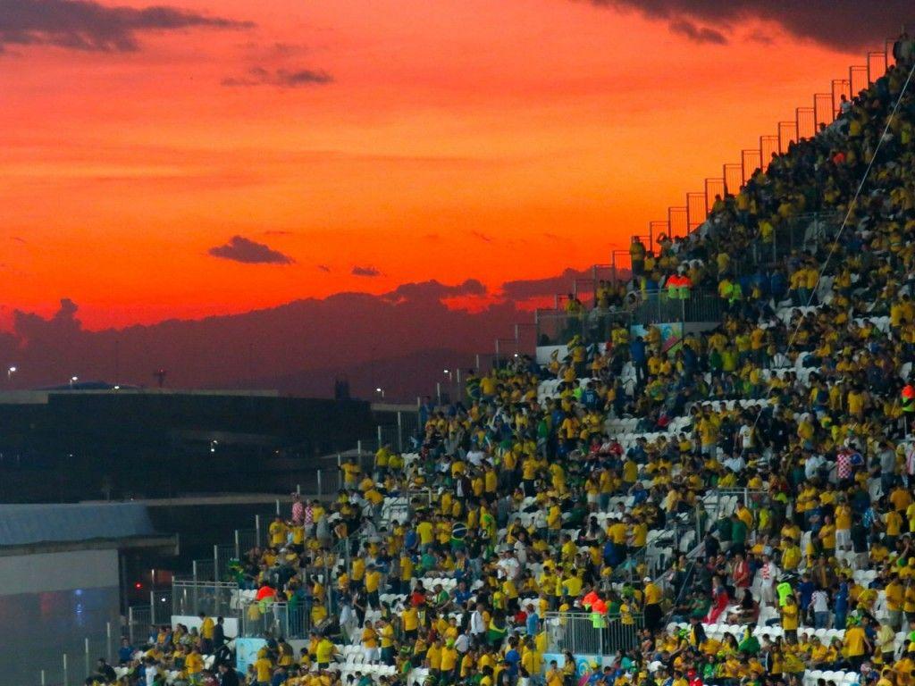 pôr do sol, itaquerão  #cariocadna #worldcup2014 #copa2014 #Brasil2014 #soccer #futebol #vaitercopa #sunset