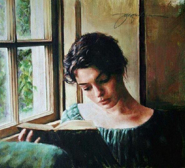 art reading women painting jacquelyn bischak woman reading by