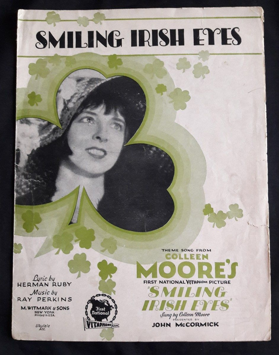 Smiling Irish Eyes Vintage Sheet Music #vintagesheetmusic