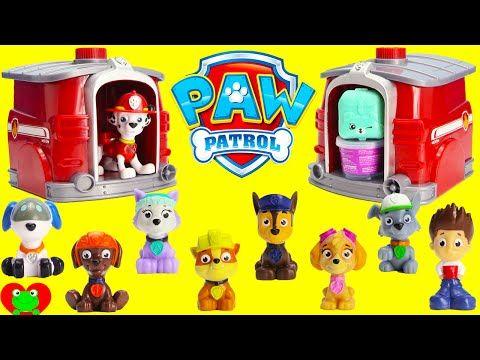 Paw Patrol Lookout Tower Chase Marshall Zuma - Hotwheels