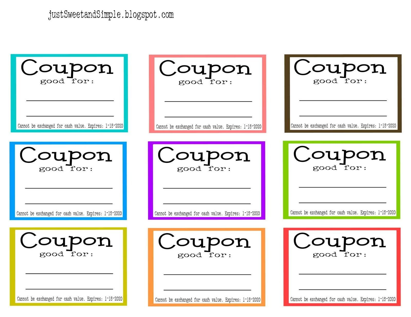 Activity  Write A Coupon For Something You Can Do For The New