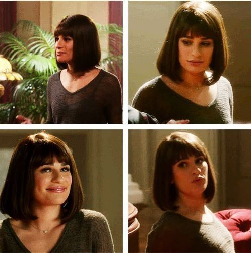 Nearly Had A Heart Attack I Didn T Know It Was A Wig O O Short Hair Styles Lea Michelle Lea Michele Glee