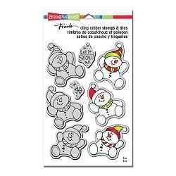 Stampendous Smiling Snowman Stamp /& Die Set