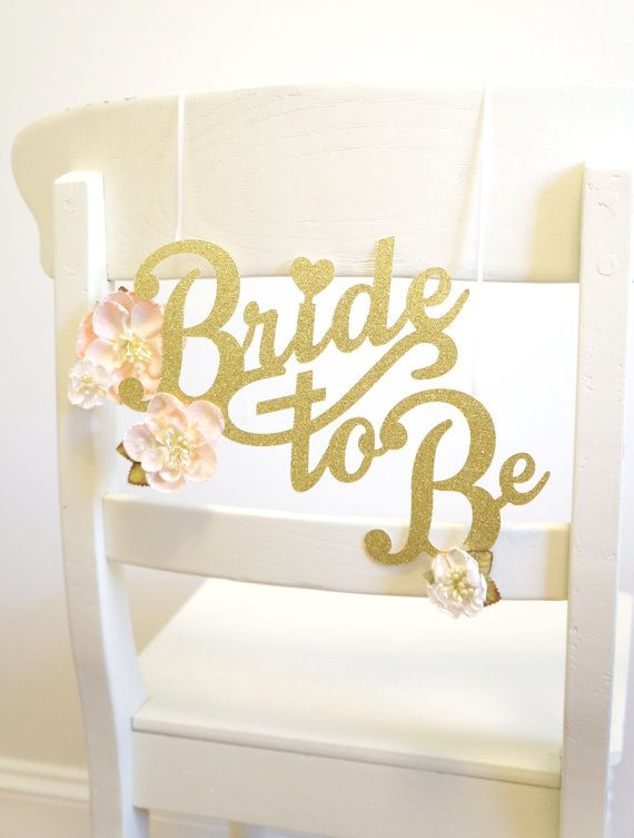 Bridal Shower Chair Decoration Wedding by LoveYouMoreParties  sc 1 st  Pinterest & Bridal Shower Chair Decoration - Wedding Shower Chair Decoration ...