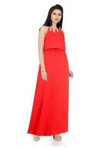 4e2e6e76d0185f Ishin Georgette red Maxi Dress | New Arrivals (Dresses) Vol-1 ...