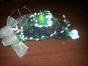 Dekorácie - Zelená so sviečkou - 6501718_