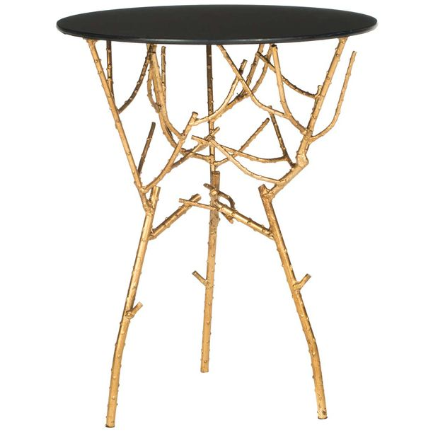gold branch side table // glam furniture