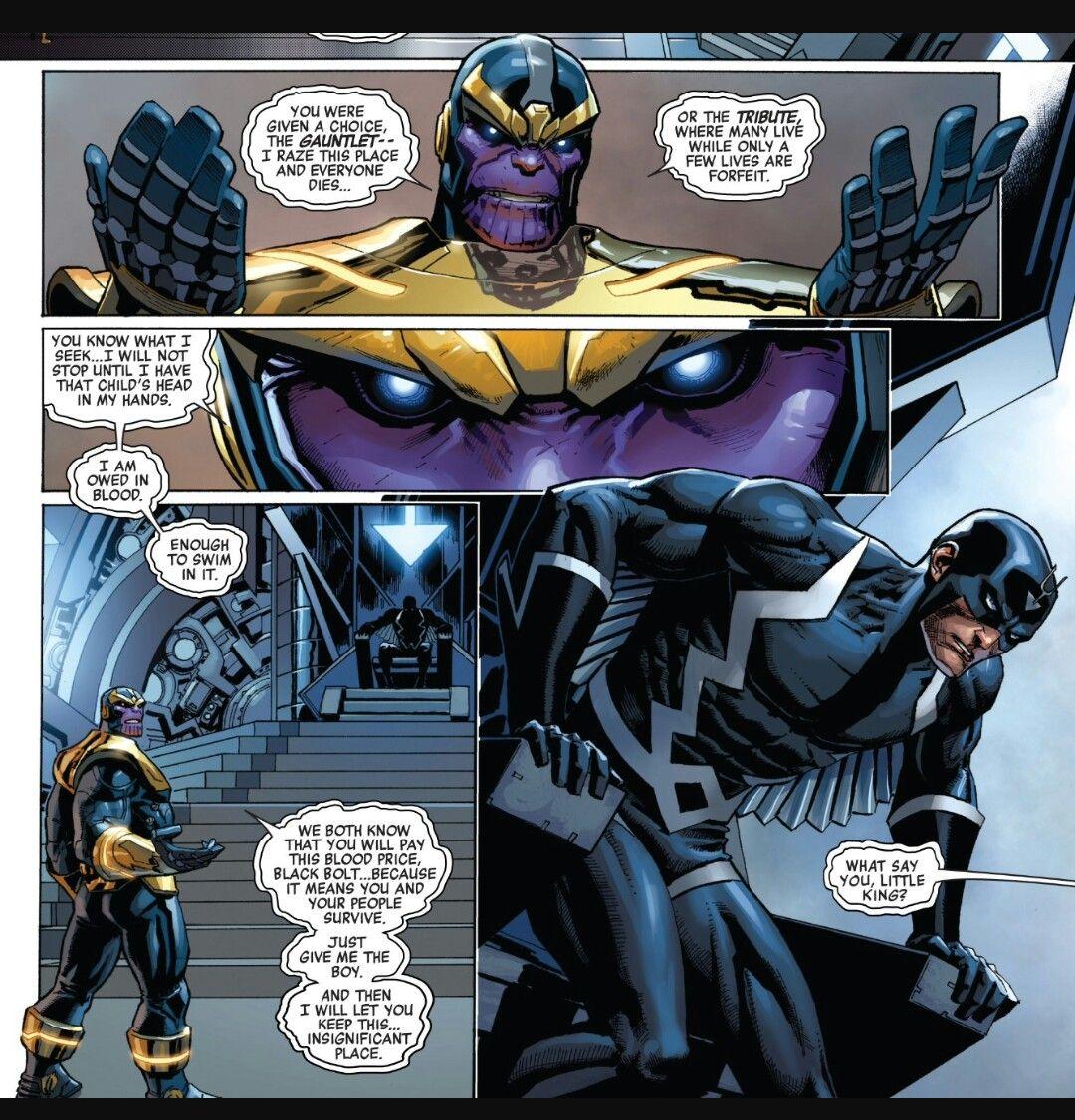 Black Bolt Vs Thanos Black Bolt Wallpaper Marvel