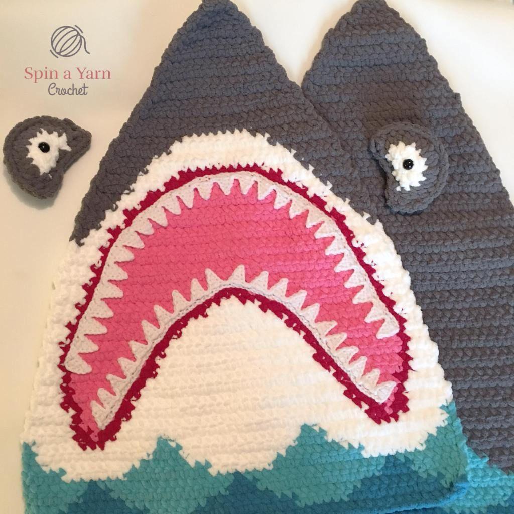 058ebe7f594 Shark Pillow Free Crochet Pattern