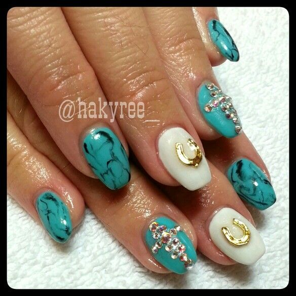 Close up of the custom mixed Turquoise gel colour with ...