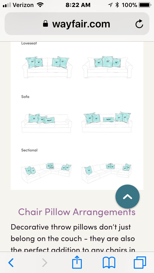 Sofa And Loveseat Pillow Arrangement
