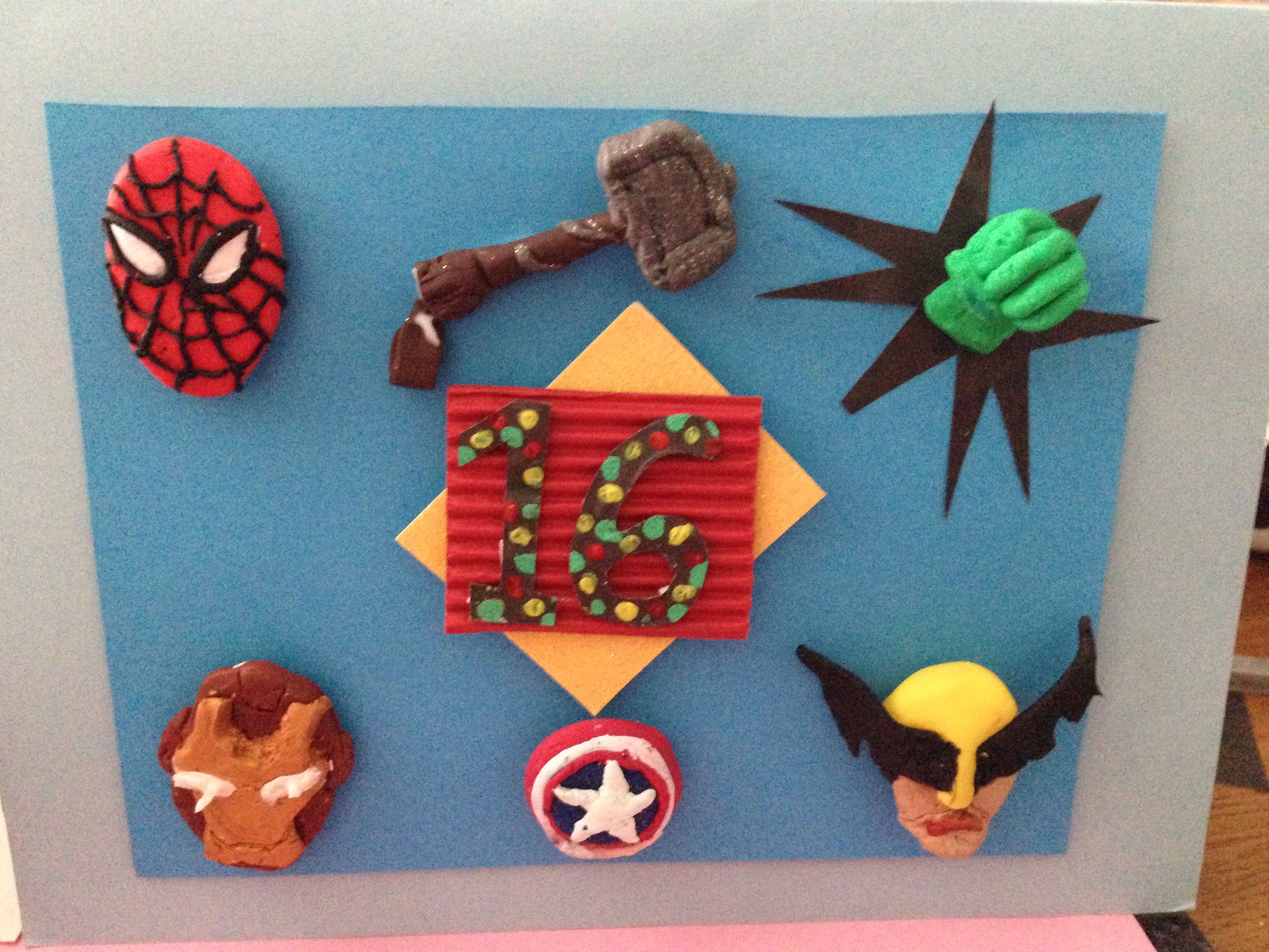 Avengers birthday card Arts & craft Pinterest