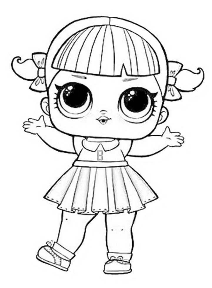 Cheer Captain Lol Dolls Coloring Pages Lol Dolls Coloring Pages Cheer Captain