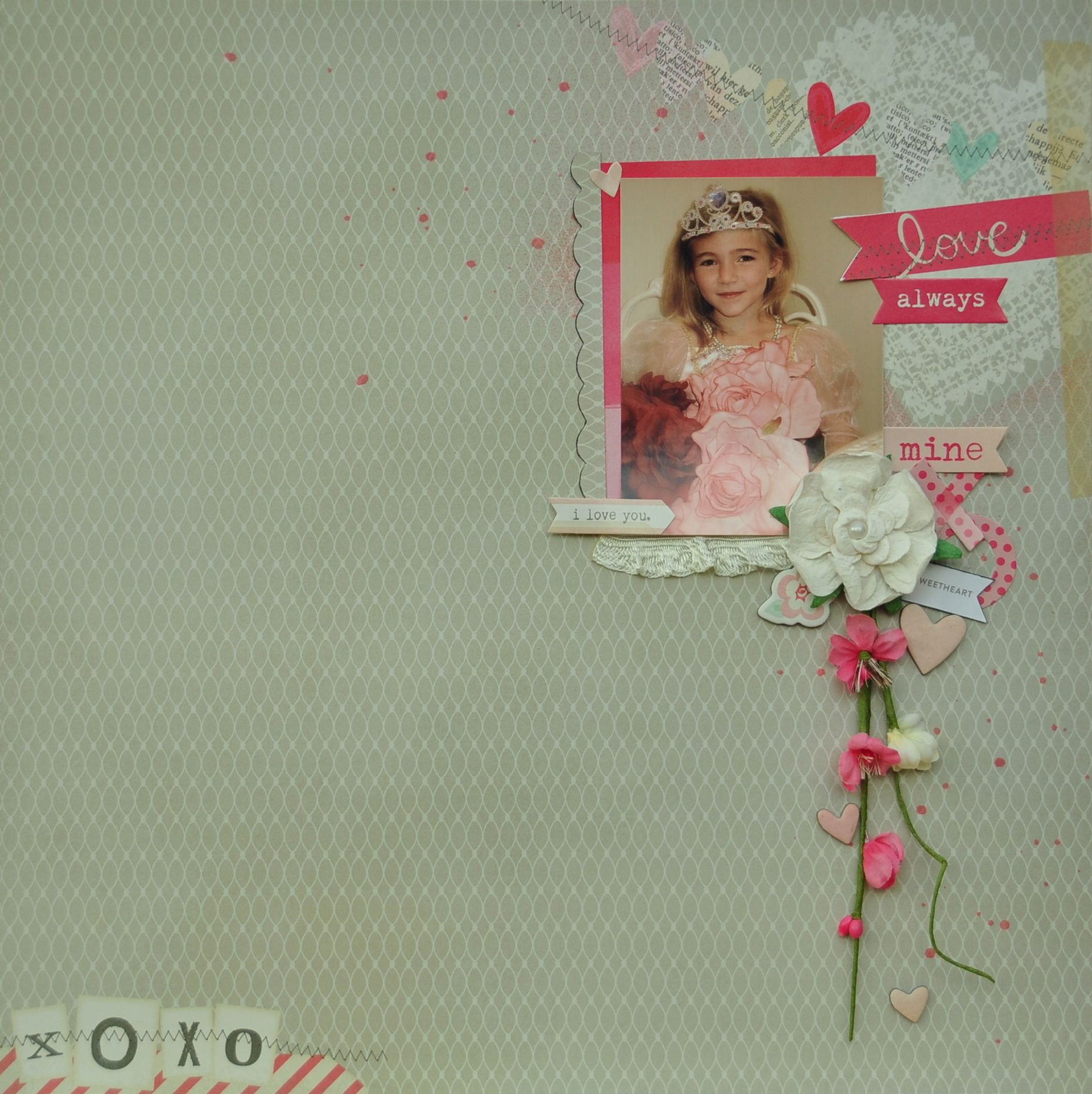 Love Always *MCS Main Kit Feb '14* - Crate Paper 'Love Notes' collection