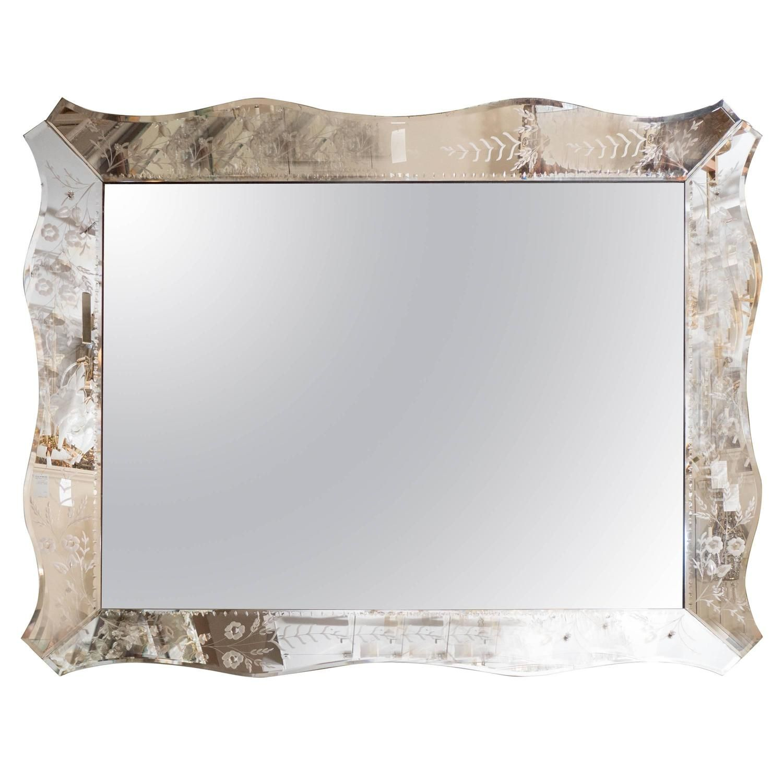 Hollywood Regency Style Venetian Wall Mirror