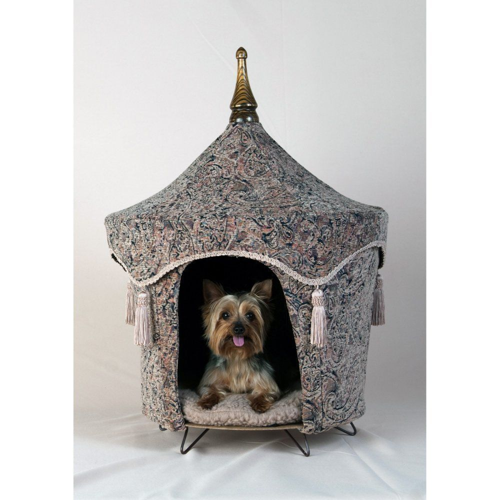 The Persnickety Pet Camelot Pet Tent Fabric Small Review More Details Here Dog House Pets Indoor Dog House Dog House