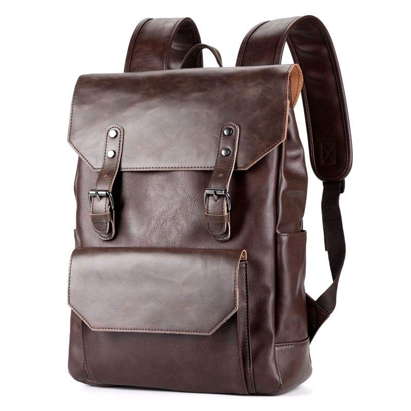 Shoulder Bag Mens Travel Bag Mens College Bag Student Bag Leather Mens Retro Horse Leather Mens Bag Casual Fashion Messenger Bag