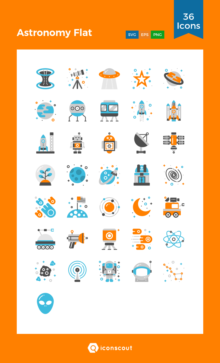 Download Astronomy Flat Icon pack Available in SVG, PNG