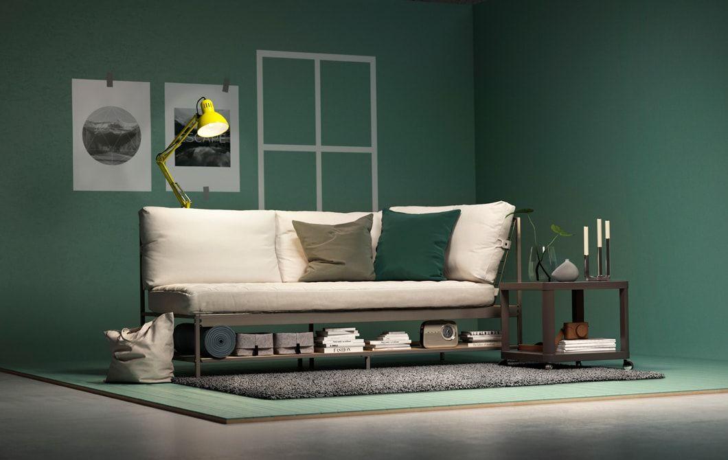 Mobili da soggiorno per piccoli spazi | arredamento | Divano ikea ...