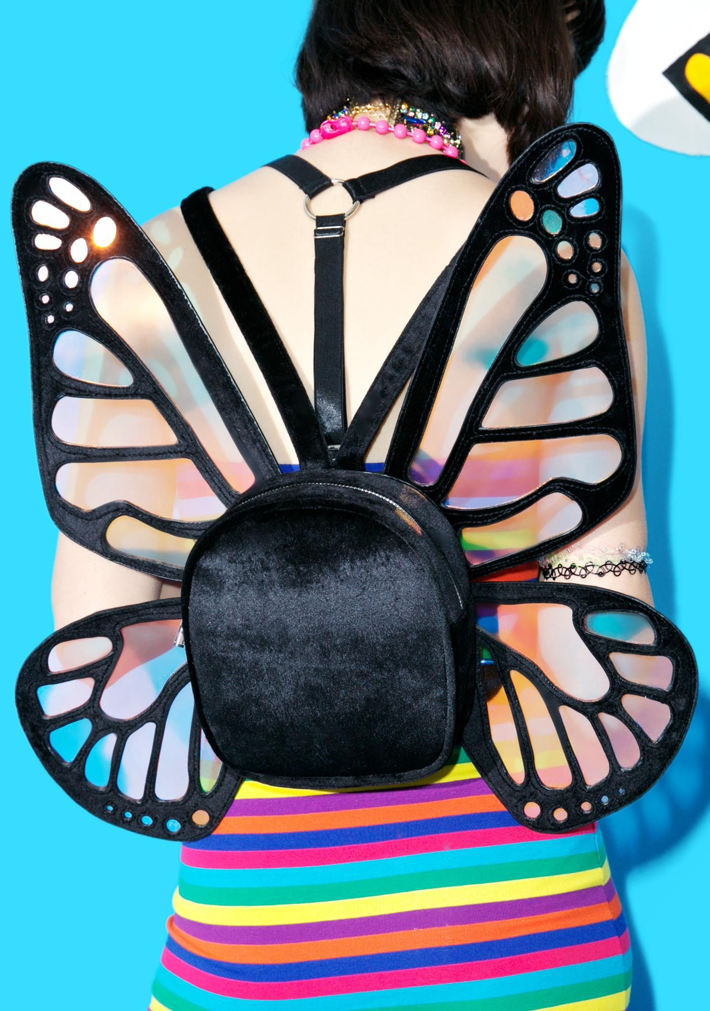 current mood mystical monarch mini backpack is for the magical babes who mesmerize this royal
