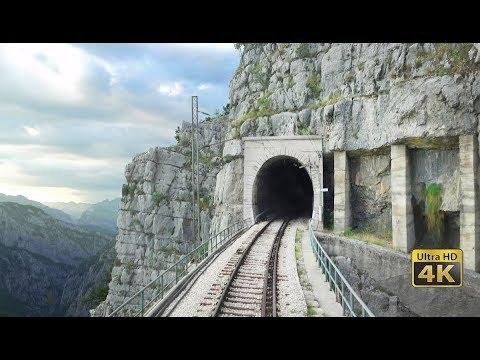 (13597) 4K CABVIEW Bar - Bijelo Polje -102 tunnels -96 bridges -1029m altitude change from Sea to Mountains - YouTube