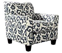 Excellent Chairs Ottomans Keendre Indigo Chair Ashley Home Interior And Landscaping Eliaenasavecom