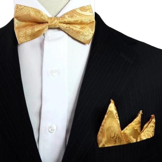 Men Tuxedo Floral Pre-tied Bowtie Wedding Party Adjustable High Grade Bowtie