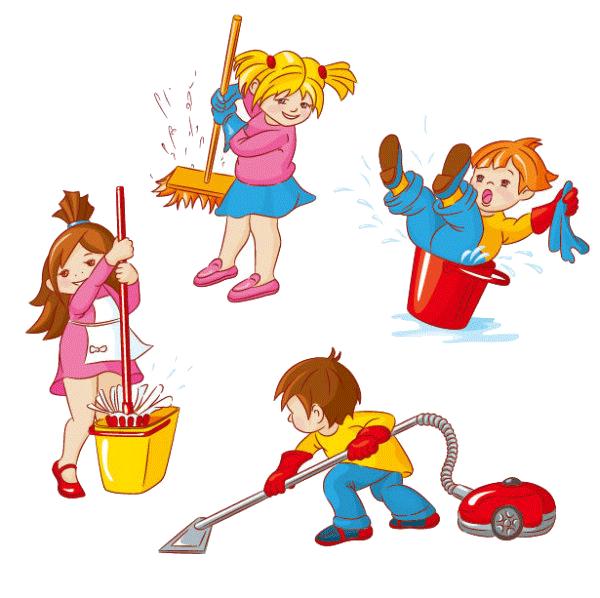Niños haciendo las tareas de casa | Niños | Pinterest