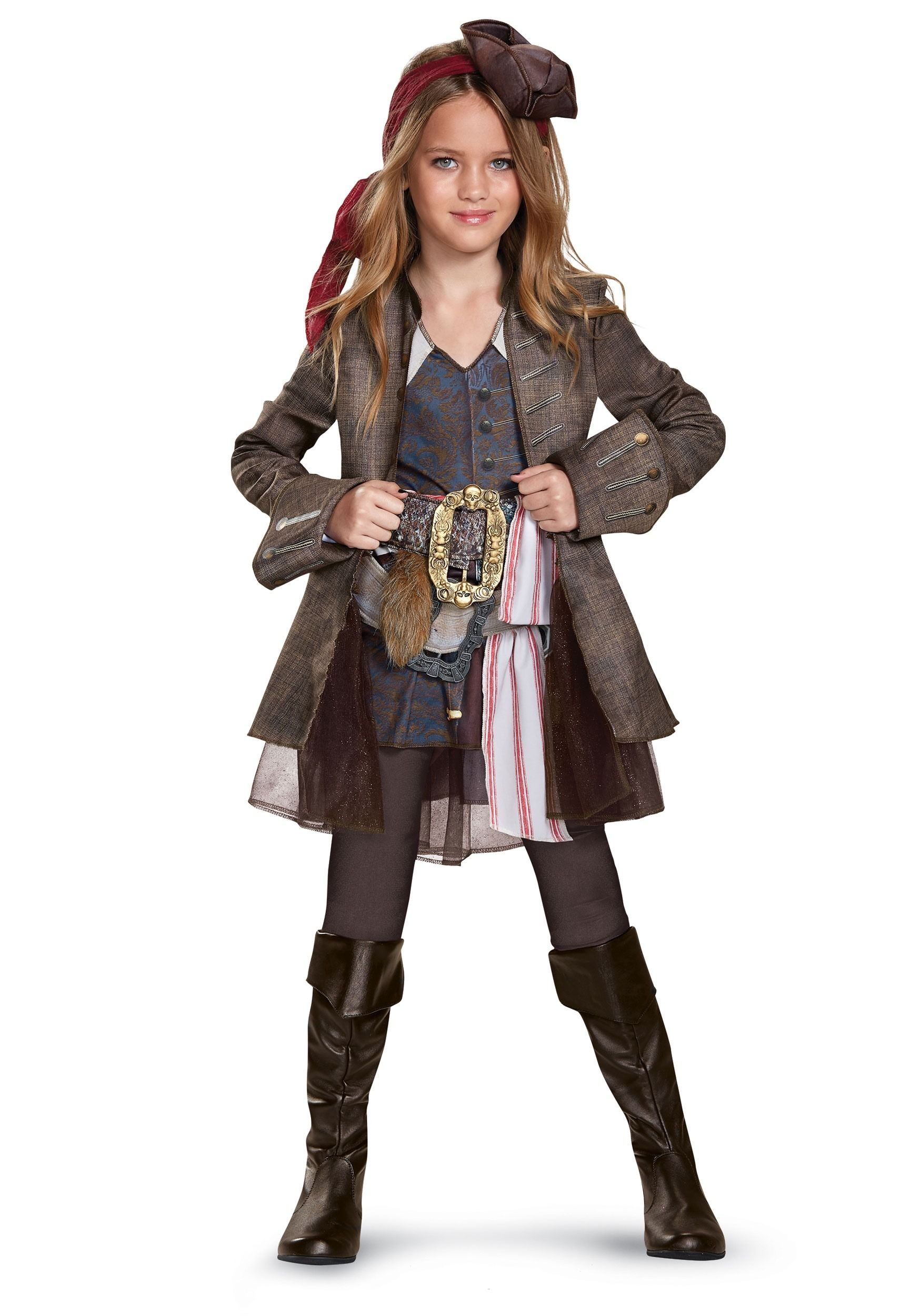 Captain Jack Sparrow Girls Deluxe Costume  397b352a3f5c
