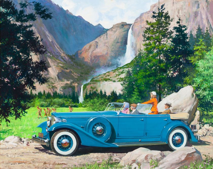 HARRY ANDERSON Yosemite Falls, 1933 Packard | Old Posters ...